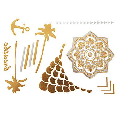 Tatoeagestickers - Patroon - Overige - voor Dames/Girl/Volwassene/Tiener - Goud - Papier - #(1) - stuks #(23x15)