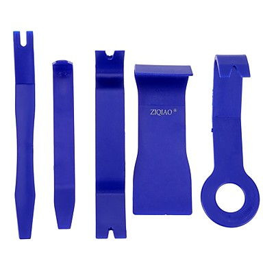 voordelige Reparatiegereedschap-Ziqiao 5 stuks blauwe kleur diy plastic auto auto radio deur clip paneel trim dash audio verwijdering pry kit tools