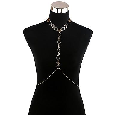 Dames Body Chain / Belly Chain Acryl Legering Gepersonaliseerde Modieus Rock Lichaamssieraden Voor Kerstmis Toneel Club Straat Kostuum