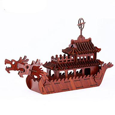 3D-puzzels Legpuzzel Oorlogsschip Schip DHZ Hout Natuurlijk Hout Unisex Geschenk