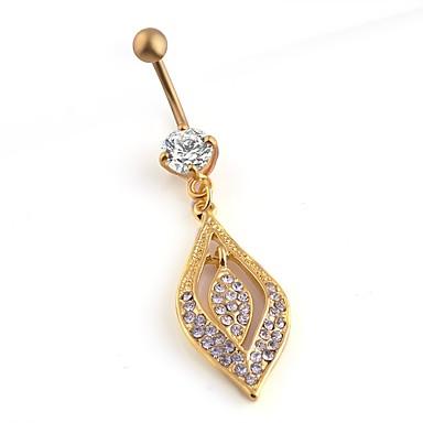 Pentru femei Bijuterii de corp Navel & Bell Button Rings La modă Multi-moduri Wear Chrismas Clasic Elegant Zirconiu Oțel titan Geometric