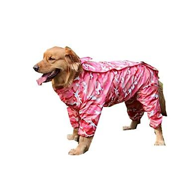 كلب معطف المطر ملابس الكلاب كاجوال/يومي بلوك ألوان أحمر أخضر