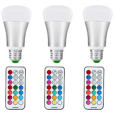10W 1000 lm E27 Bulb LED Glob A70 1 led-uri COB Intensitate Luminoasă Reglabilă Decorativ RGB + Cald AC85-265