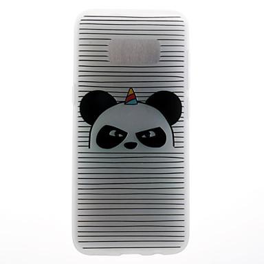 Maska Pentru Samsung Galaxy S8 Plus S8 Model Carcasă Spate Linii / Valuri Panda Moale TPU pentru S8 S8 Plus S7 edge S7 S6 edge S6