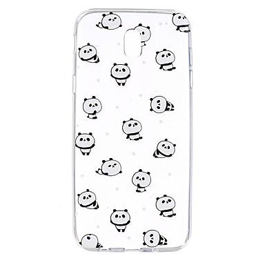 Maska Pentru Samsung Galaxy J7 (2017) J3 (2017) Transparent Model Carcasă Spate Animal Panda Moale TPU pentru J7 (2016) J7 Prime J7