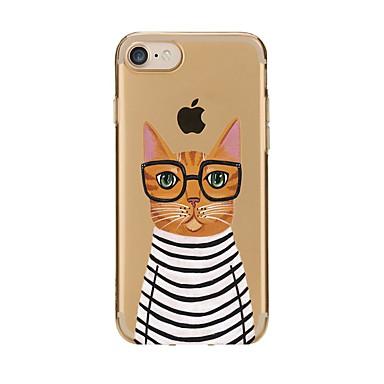 Caz pentru iphone 7 6 pisică tpu soft ultra-subțire spate cover cover case iphone 7 plus 6 6s plus se 5s 5 5c 4s 4