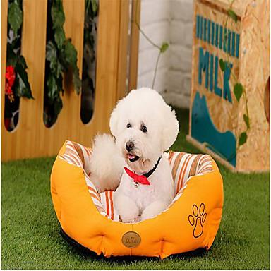 Câine Paturi Animale de Companie  Rogojini & Pernuțe Dungi Footprint / Paw Cald Απαλό Lavabil Portocaliu Verde Pentru animale de companie