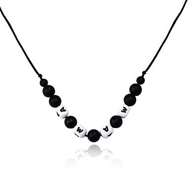 Pentru femei Coliere cu Pandativ - Clasic / În Cruce / Ajustabile Geometric Shape Negru Coliere Pentru Crăciun / Oficial / Muncă