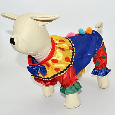 كلب ازياء تنكرية حللا ملابس الكلاب الكوسبلاي كاجوال/يومي كارتون قوس قزح كوستيوم للحيوانات الأليفة