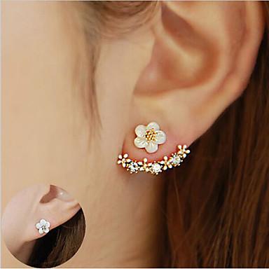 Earrings Women 039 S Crystal Stud Front Back Ear Jacket