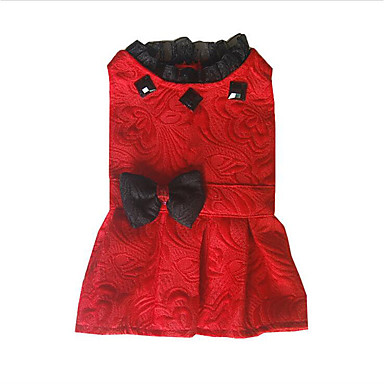 Hond Jurken Hondenkleding Prinses Wit Zwart Rood Stof Kostuum Voor huisdieren Heren Dames Casual/Dagelijks