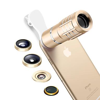 Mobiele telefoonlens Lens met filter Fish-eye lens Lens met lange brandpuntafstand Groothoeklens Macrolens Aluminium 10X en groter 180