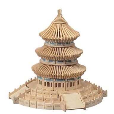 3D-puzzels Legpuzzel Houten modellen Beroemd gebouw Huis Architectuur 3D Hout Natuurlijk Hout Jongens Unisex Geschenk