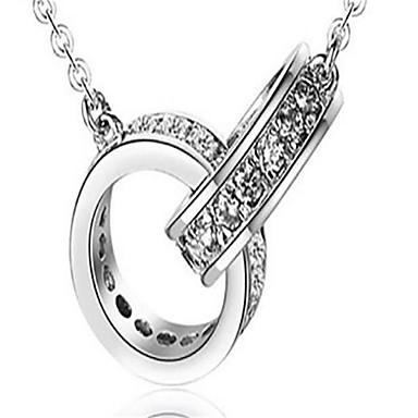 Dames Geometrische vorm Vorm Gepersonaliseerde Modieus Hangertjes ketting Sieraden Sterling zilver Hangertjes ketting Bruiloft Verjaardag