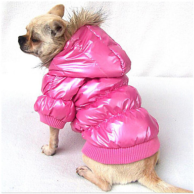 Câine Hanorace cu Glugă Jachete cu Puf Îmbrăcăminte Câini Respirabil Casul/Zilnic Solid Maro Albastru Roz Costume Pentru animale de