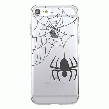 Maska Pentru Apple Transparent Model Carcasă Spate Animal Halloween Moale TPU pentru iPhone 7 Plus iPhone 7 iPhone 6s Plus iPhone 6 Plus