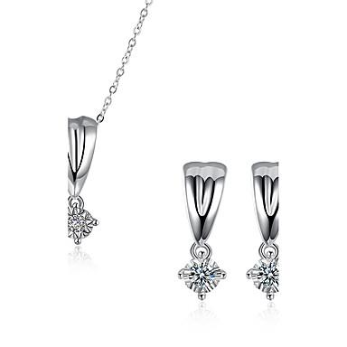 Damen Kubikzirkonia Zirkon Schmuck-Set - Modisch Tropfen Tropfen-Ohrringe Halskette Für Hochzeit Party Normal Büro & Karriere Arbeit