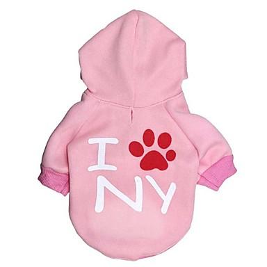كلب هوديس ملابس الكلاب دافئ كاجوال/يومي حرف وعدد كوستيوم للحيوانات الأليفة