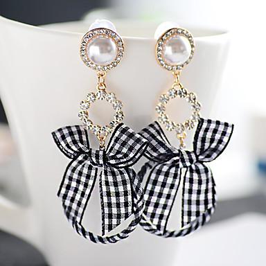 Pentru femei Cercei Picătură imitație de diamant La modă Personalizat Hipoalergenic Aliaj Circle Shape Round Shape Fluture Bijuterii