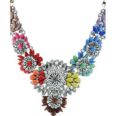 Pentru femei Coliere Flower Shape Aliaj Personalizat Cute Stil Bijuterii Pentru Scenă Concediu Ieșire