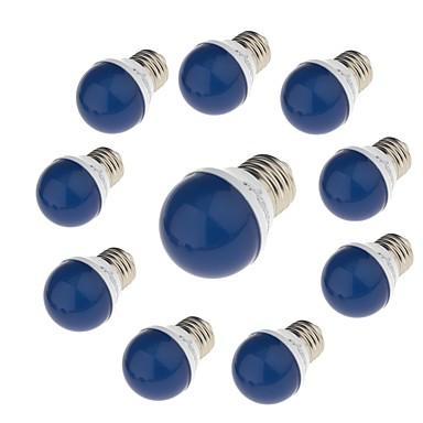 10 Stück 3W 750lm E27 LED Kugelbirnen G45 6 LED-Perlen SMD 2835 Dekorativ Grün Gelb Blau 220V 220-240V