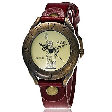 Bărbați Ceas La Modă Ceas de Mână Ceas Brățară Unic Creative ceas Ceas Casual Chineză Quartz Piele Bandă Vintage Casual Elegant Negru Alb