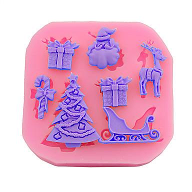 2 Piese Materiale pentru torturi Crăciun Pentru ustensile de gătit pentru pâine pentru ciocolată tort Instrumentul de coacere Calitate