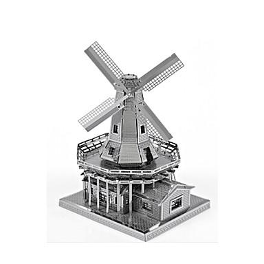Spielzeug-Autos Holzpuzzle Metallpuzzle Windmühle Spielzeuge Windmühle Berühmte Gebäude 3D Heimwerken Aleación keine Angaben Stücke