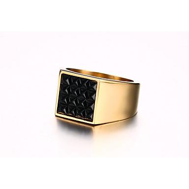 للرجال خواتم حزام السبج موضة عتيقة شخصية تيتانيوم معدني Square Shape مجوهرات من أجل زفاف يوميا مراسم