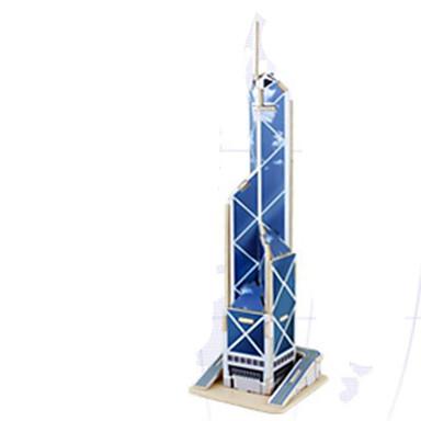 قطع تركيب3D تركيب الخشب نموذج ألعاب بناء مشهور معمارية 3D خشب الخشب الطبيعي للجنسين قطع