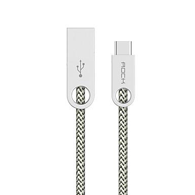 ROCK USB 2.0 Kabel, USB 2.0 to USB 2.0 Typ C Kabel Male - Male 1.0m (3Ft)
