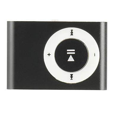 sanshuai® lecteur multimédia de musique usb mp3 mini-clip en métal
