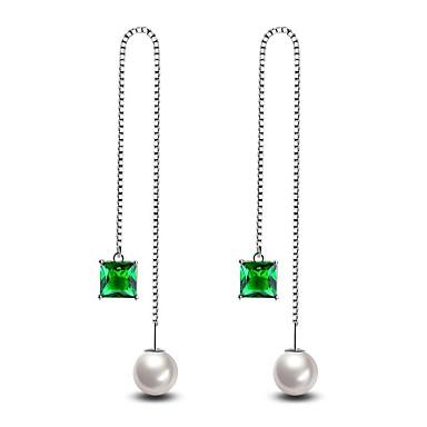 Pentru femei Cercei Picătură imitare Emerald imitație de diamant bijuterii de lux Clasic La modă Personalizat HipoalergenicDiamante