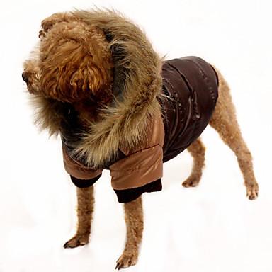 Hond Jassen Hondenkleding Effen Oranje Koffie Rood Katoen Kostuum Voor huisdieren Casual/Dagelijks
