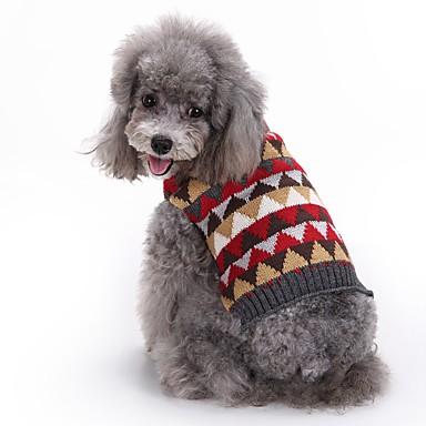 Pisici / Câine Haine / Pulovere / Crăciun Îmbrăcăminte Câini Tartan / Carouri Gri Spandex / Amestec de Bumbac / In Costume Pentru animale