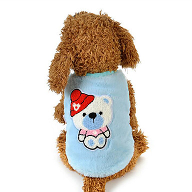 Hund Weste Hundekleidung Cartoon Design Grün Blau Rosa Plüsch Kostüm Für Haustiere Herrn Damen Lässig / Alltäglich