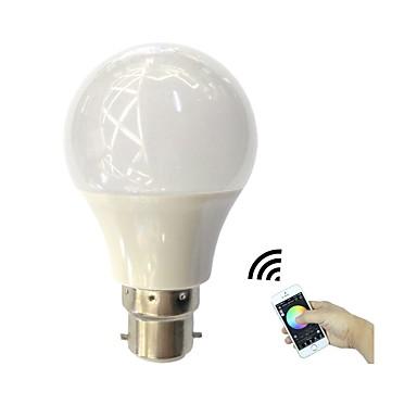 4.5W B22 مصابيح صغيرة LED 3 الأضواء طاقة عالية LED بلوتوث أب التحكم RGB + الدافئة 350lm 3000-3200K AC110-240V