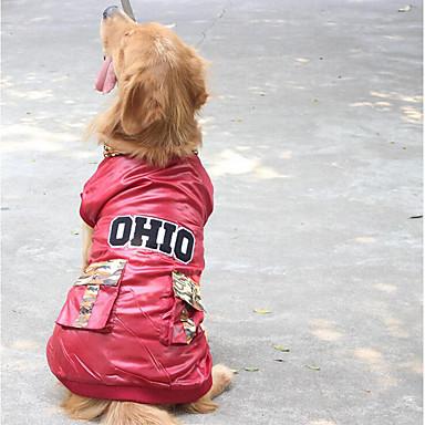 Hund Overall Hundekleidung Solide Rot Tarnfarbe Baumwolle Daune Kostüm Für Haustiere Herrn Damen Lässig/Alltäglich