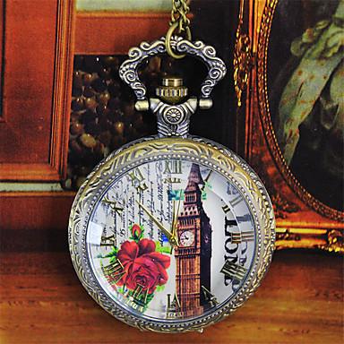 Bărbați Pentru femei Ceas de buzunar Quartz Aliaj Bandă Bronz