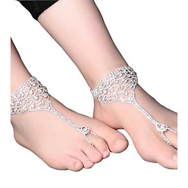 Pentru femei Brățară Gleznă/Brățări Perle Roz Floral Picătură Bijuterii Pentru Nuntă Logodnă Stradă Ieșire Club