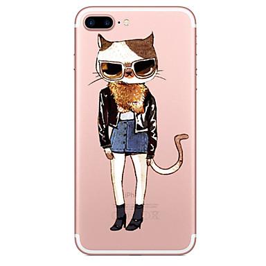 Maska Pentru Apple Transparent Model Carcasă Spate Pisica Moale TPU pentru iPhone 7 Plus iPhone 7 iPhone 6s Plus iPhone 6 Plus iPhone 6s