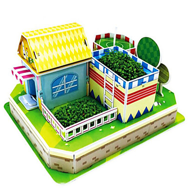 قطع تركيب3D تركيب ألعاب التركيب بناء مشهور بيت خشب الخشب الطبيعي للجنسين هدية