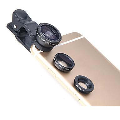 Lieqi lq-011 telefoon lens vis-oog lens groothoek lens macro lens aluminium 10x mobiele telefoon camera lenzen kit voor Samsung