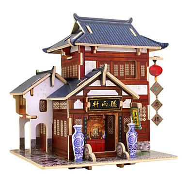 3D-puzzels Legpuzzel Huis Architectuur 3D DHZ Hout Natuurlijk Hout Verjaardag Unisex Geschenk