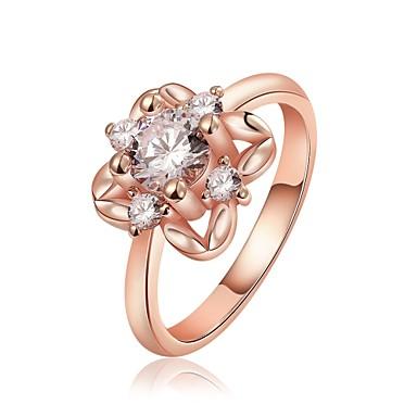 Pentru femei Band Ring Cristal Zirconiu Cubic Auriu Roz auriu Cristal Zirconiu Zirconiu Cubic Argilă Aliaj Geometric Shape neregulat