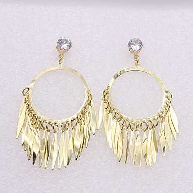 Pentru femei Cercei Picătură imitație de diamant La modă Personalizat Hipoalergenic Aliaj Circle Shape Round Shape Bijuterii Pentru