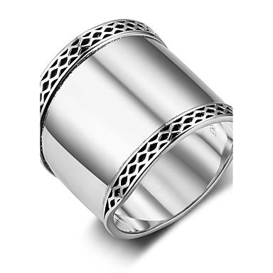 Pentru femei Band Ring Argintiu Plastic Geometric Shape Vintage Festival Costum de bijuterii