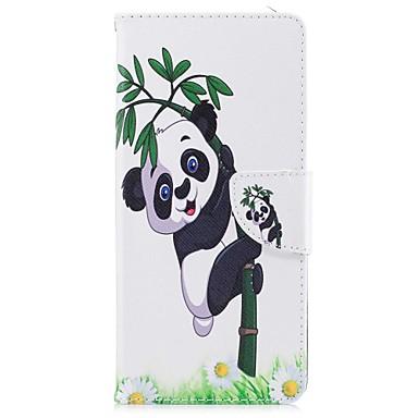 Maska Pentru Samsung Galaxy Note 8 Portofel Titluar Card Cu Stand Întoarce Model Magnetic Corp Plin Panda Greu PU Piele pentru Note 8