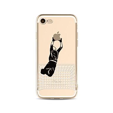 voordelige iPhone 5 hoesjes-hoesje Voor Apple iPhone X / iPhone 8 Plus / iPhone 8 Transparant / Patroon Achterkant Spelen met Apple-logo Zacht TPU