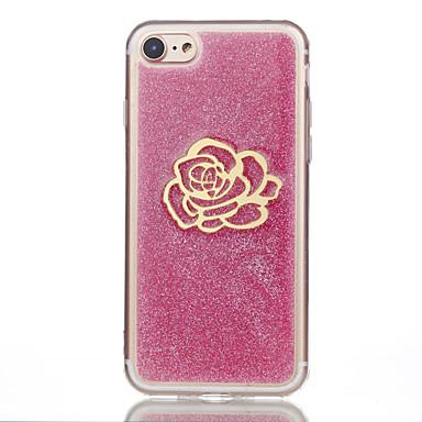 Pentru iPhone 7 iPhone 7 Plus Carcase Huse Model Carcasă Spate Maska Luciu Strălucire Floare Moale Silicon pentru Apple iPhone 7 Plus